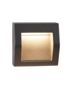 Die Cast Aluminium IP54 Outdoor Small Dark Grey Wall Light