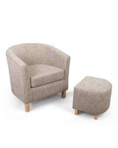 Tub Chair & Stool Set