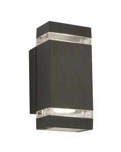Aluminium IP44 Black Outdoor Wall Light