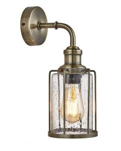 Pipes Antique Brass Wall Light