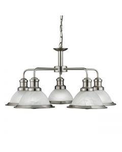 Bistro Satin Silver 5 Light Pendant
