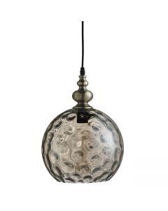 Indiana Antique Brass Globe Pendant