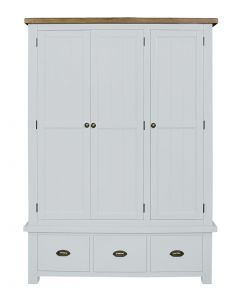 Cotswold Painted White Triple Wardrobe