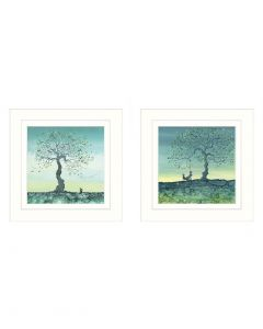 A Moment of Hope II & A Moment of Hope III by Catherine Stephenson - 33 x 33cm