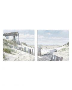 Pathway to The Beach I & Pathway to The Beach II by Richard MacNeil - 60 x 60cm