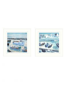 Waiting For The Tide & Pebble Collection by Claire Henley - 43 x 43cm