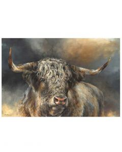 Grand Kyloe Bull By Dina Perejogina - 120 x 80cm