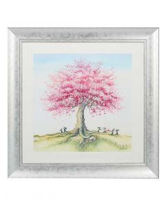 Catching The Blossom by Catherine Stephenson - 70 x 70cm