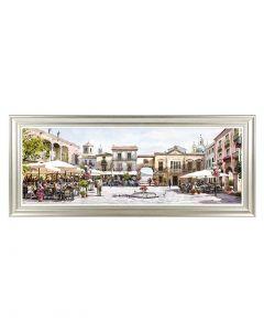 Mediterranean Courtyard by Richard MacNeil - 127 x 51cm
