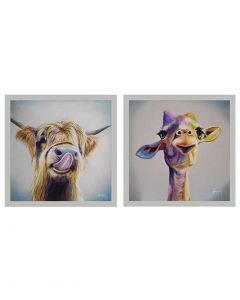 Giz A Kiss & Keep Smiling By Adam Barsby - 43 x 43cm