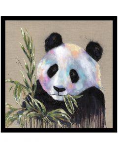 Xing Fu Panda by Louise Luton - 74.5 x 74.5cm