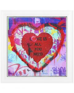 Love Is All You Need By John Jackson - 86 x 86cm