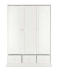 Ashby White Triple Wardrobe