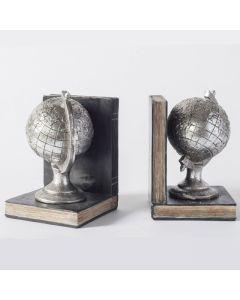 Atlas Globe Bookends