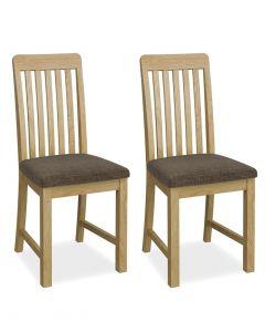 Bath Vertical Slat Dining Chairs - Pair