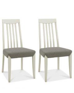 Bergen Grey Washed Oak Slat Back Titanium Dining Chair - Pair
