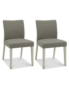 Bergen Grey Washed Oak Upholstered Dining Chair - Pair