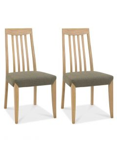 Bergen Oak Slatted Black & Gold Dining Chair - Pair