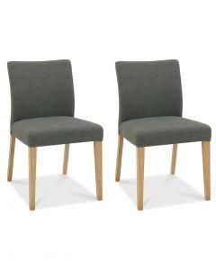 Bergen Oak Upholstered Dining Chair - Pair