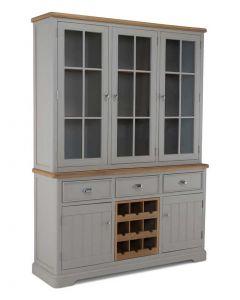 Warwick Painted Grey Large Dresser Unit