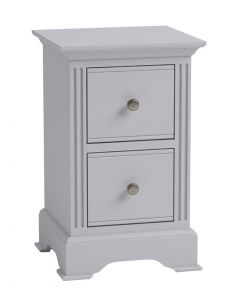 Jasper Painted Grey Small Bedside Chest