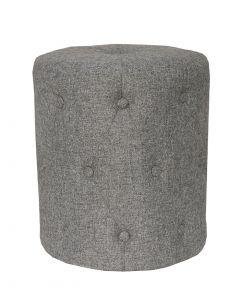Dark Grey Button Detail Footstool