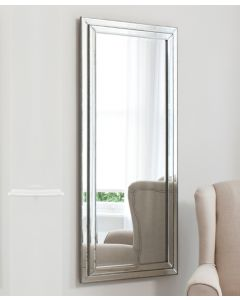 Chambery Pewter Leaner Mirror  By Gallery
