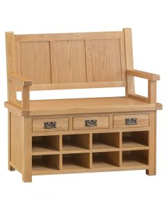 Country Oakham Monks Bench
