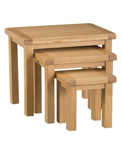 Country Oakham Nest of 3 Tables