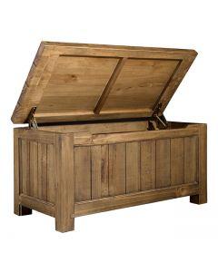 Cotswold Rustic Oak Blanket Box