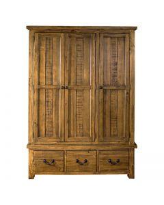 Cotswold Rustic Oak Triple Wardrobe