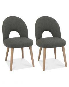 Dansk Scandi Oak Upholstered Chair - Pair