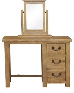 Cotswold Rustic Oak 3 Drawer Dressing Table