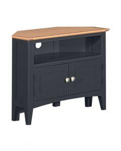 Eva Painted Blue Corner TV Unit