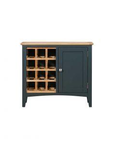 Eva Painted Blue Wine Cabinet