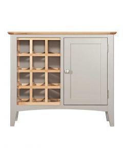 Eva Painted Grey Wine Cabinet
