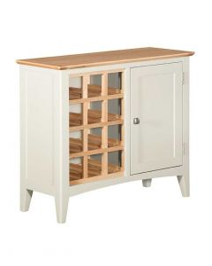 Eva Painted Ivory Wine Cabinet