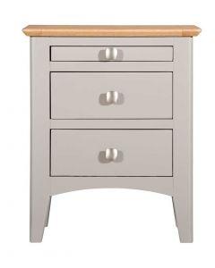 Eva Painted Grey Bedside Cabinet