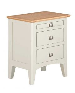 Eva Painted Ivory Bedside Cabinet