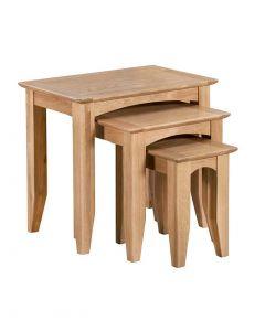 Eva Oak Nest of Tables
