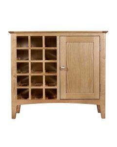 Eva Oak Wine Cabinet