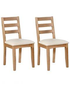 Eva Oak Dining Chairs- Pair