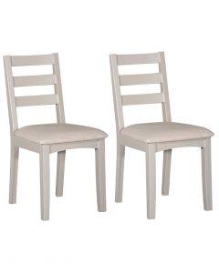 Eva Painted Grey Dining Chairs - Pair