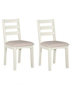 Eva Painted Ivory Dining Chairs - Pair