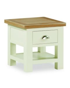 Norfolk Painted Lamp Table with Drawer