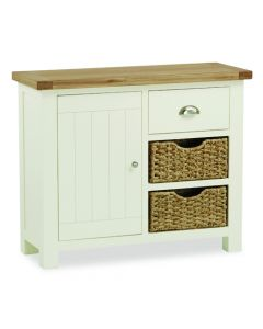 Norfolk Painted Small Sideboard with Baskets