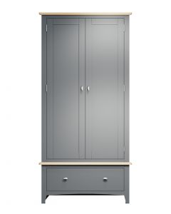 Georgia Painted Grey Double Wardrobe
