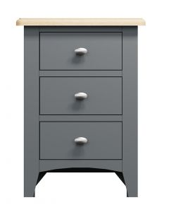 Georgia Painted Grey Bedside Cabinet