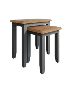 Georgia Painted Grey Nest of 2 Tables