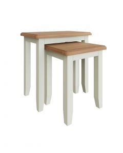 Georgia Painted White Nest of 2 Tables